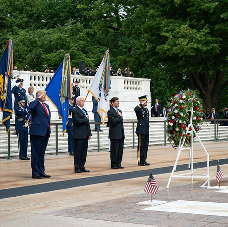 President Trump at the Tomb of the Unknowns. Photo courtesy the White House.