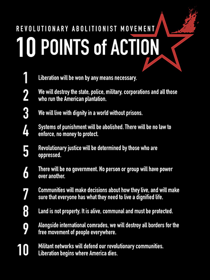 10 Points of Action of Revolutionary Abolitionist Movement (RAM)